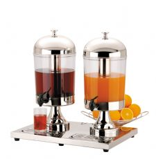 Double 2x8 litre CHILLED Juice DISPENSER for Restaurants Hotels Breakfast Bars.